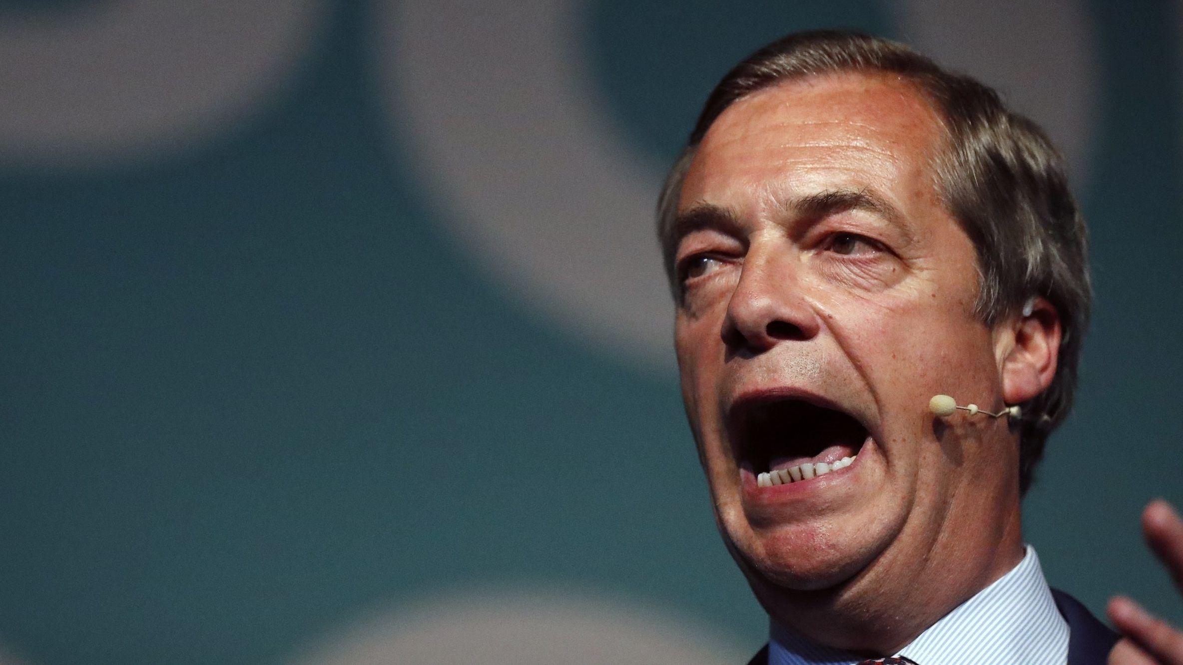 Nigel Farage, EU-Abgeordneter für Großbritannien und Vorsitzender der Brexit-Partei, ist einer der Gewinner der Europawahl