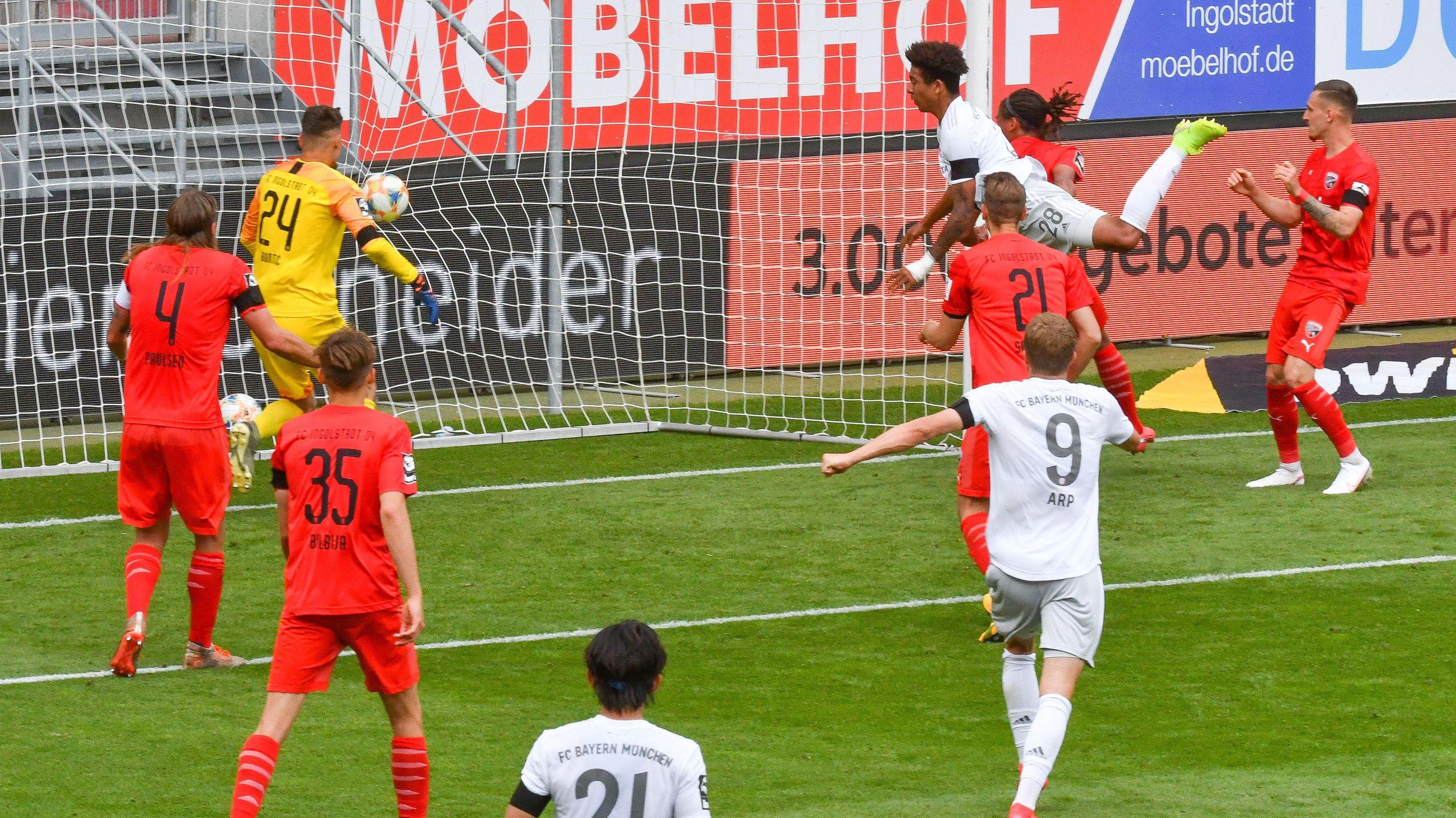Das 2:1 für den FC Bayern II im Spiel beim FC Ingolstadt