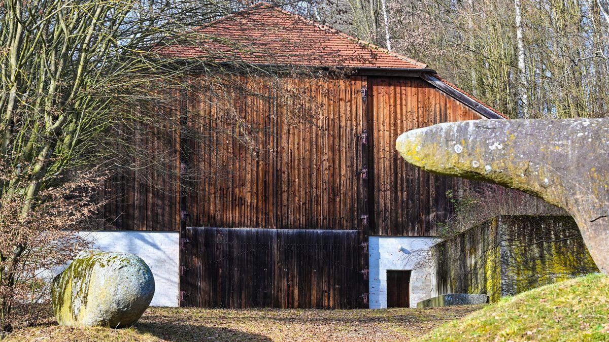 """Die Werkstatt beim Wohnhaus """"Ganslberg"""" des Bildhauers Fritz Koenig"""