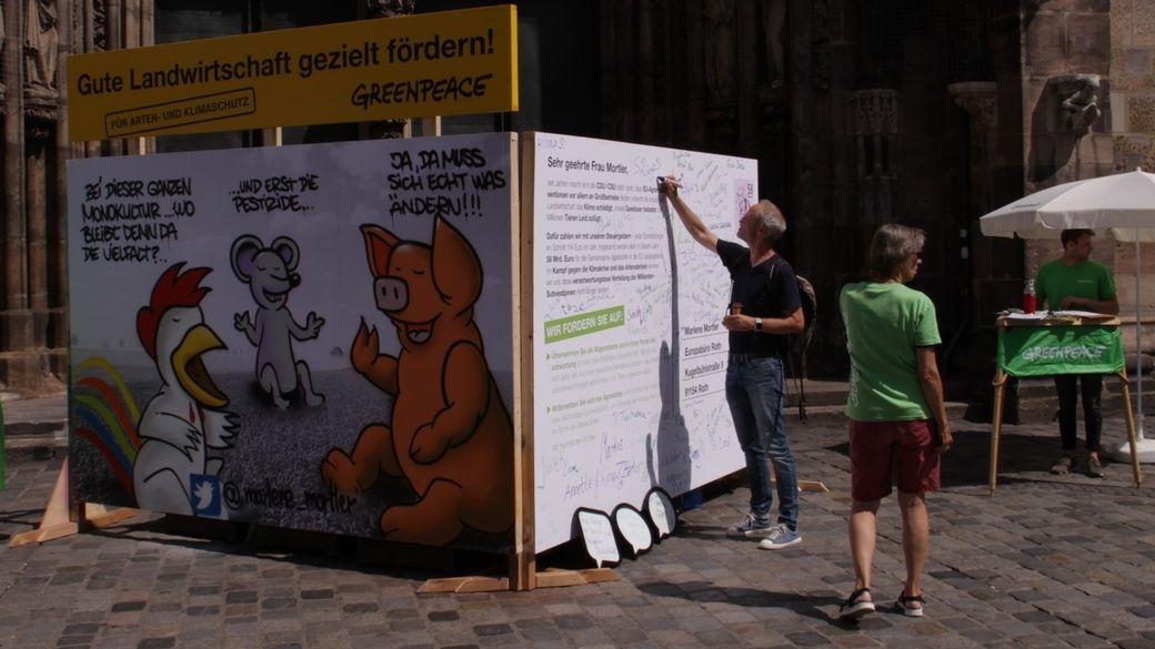 Greenpeace Aktion in Nürnberg