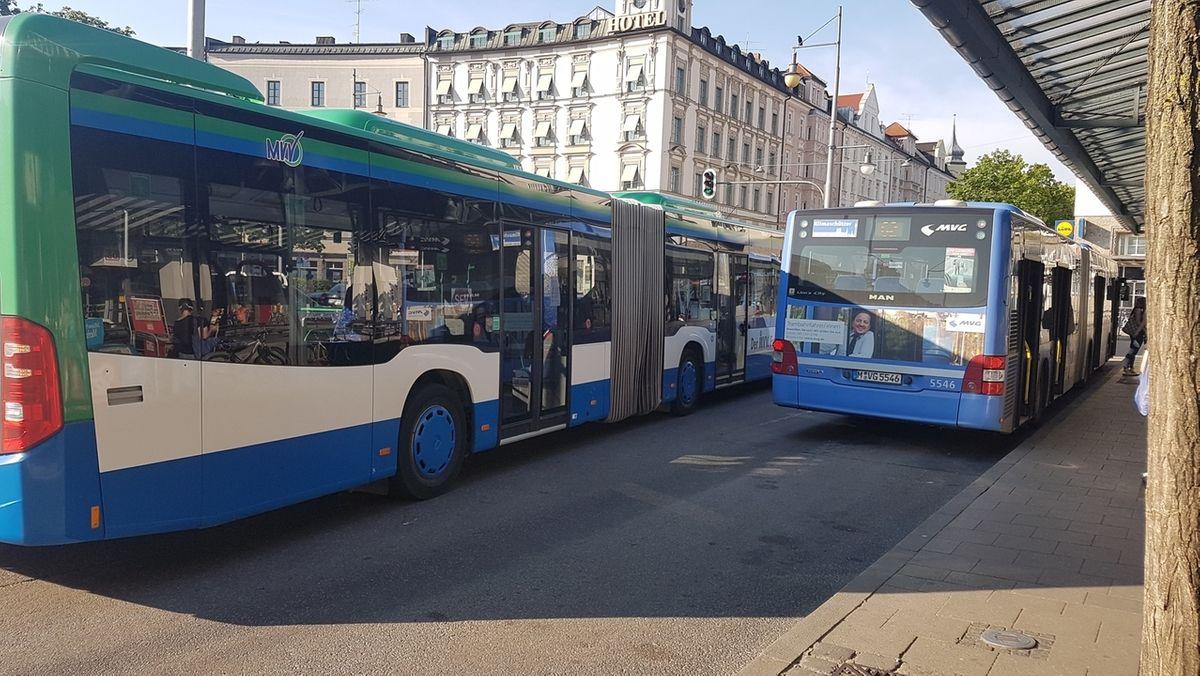 Gelenkbusse der MVG in München