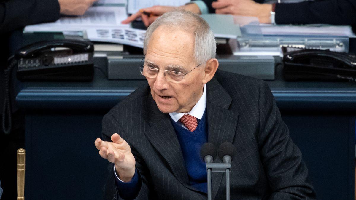 Bundestagspräsident Wolfgang Schäuble im Bundestag