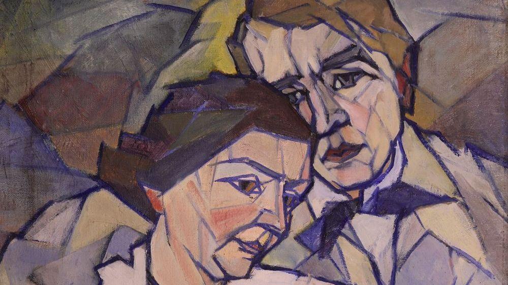 Georg Philipp Wörlen: Selbstbildnis mit Frau (1920)