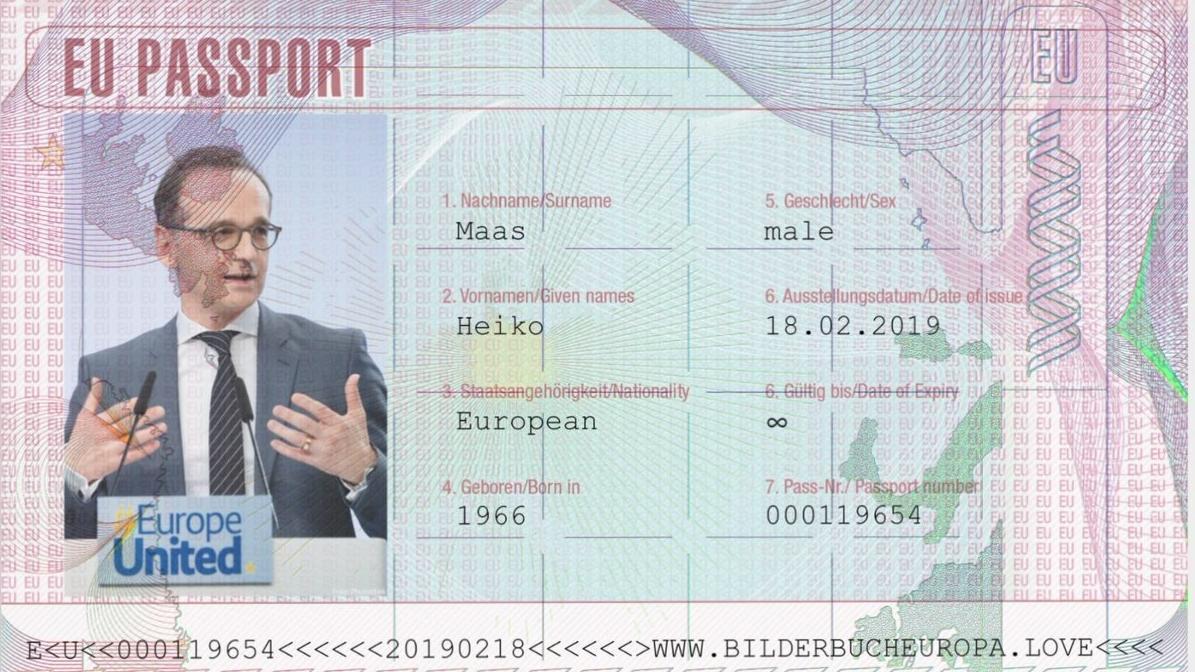 "Heiko Maas mit ""EU-Pass"""