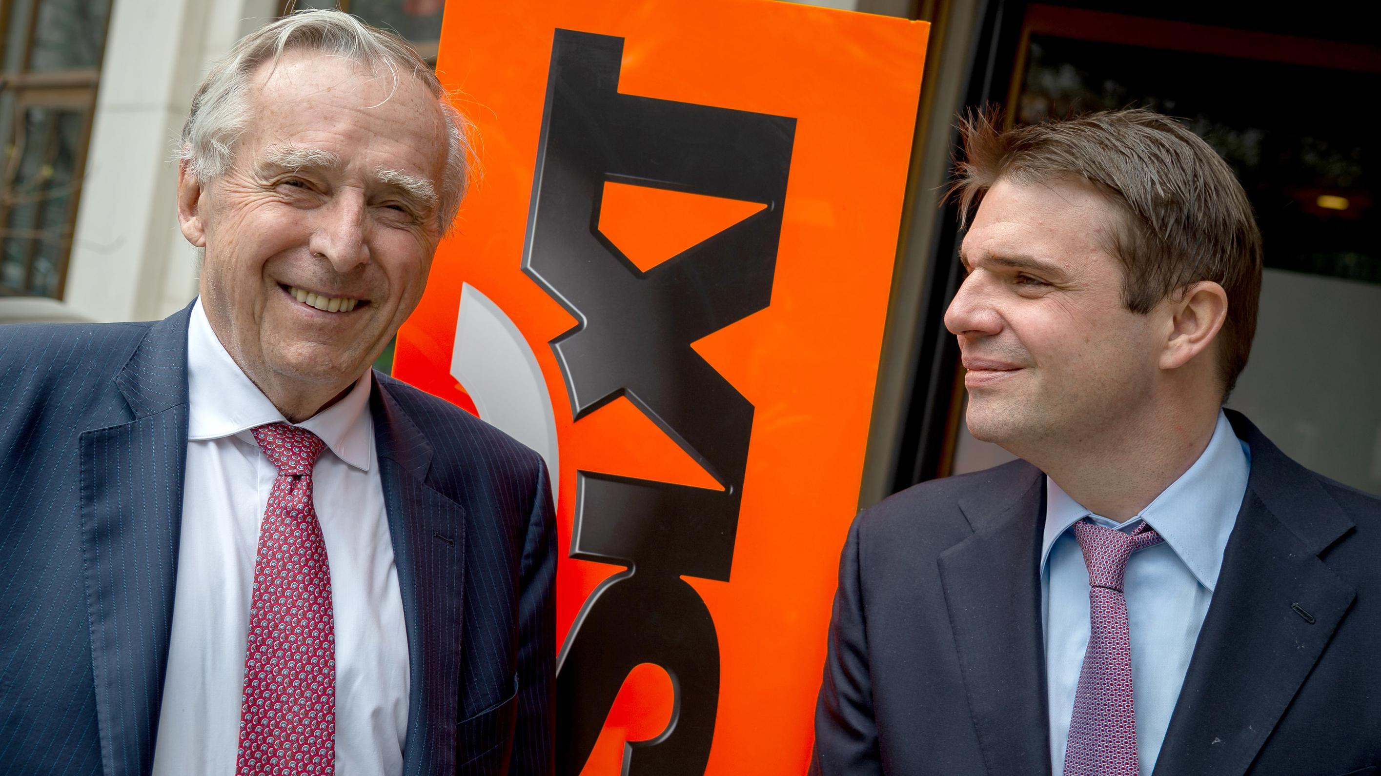 Alexander Sixt (r), Strategievorstand von Sixt, und Erich Sixt, Vorstandschef
