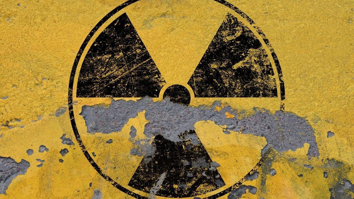 Das schwarz-gelbe Zeichen für Radioaktivität
