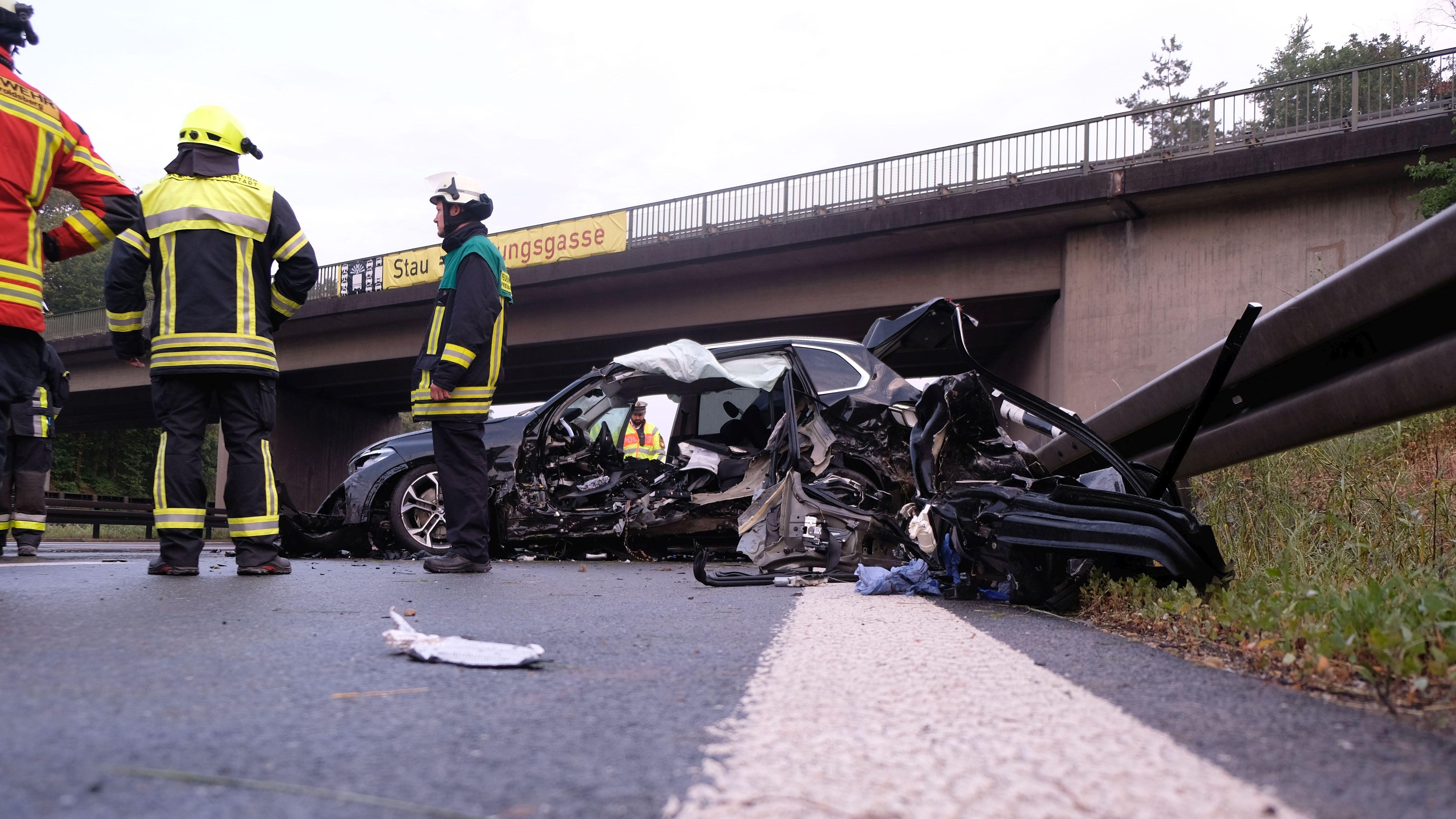 Tödlicher Unfall auf der A3 bei Erlangen-Tennenlohe.