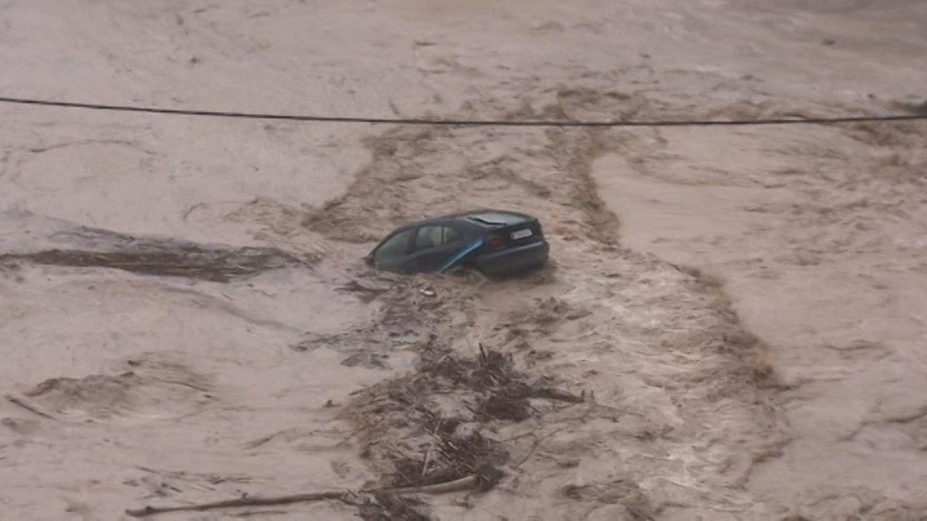 Heftige Regenfälle haben im Südosten Spaniens zu Überschwemmungen geführt