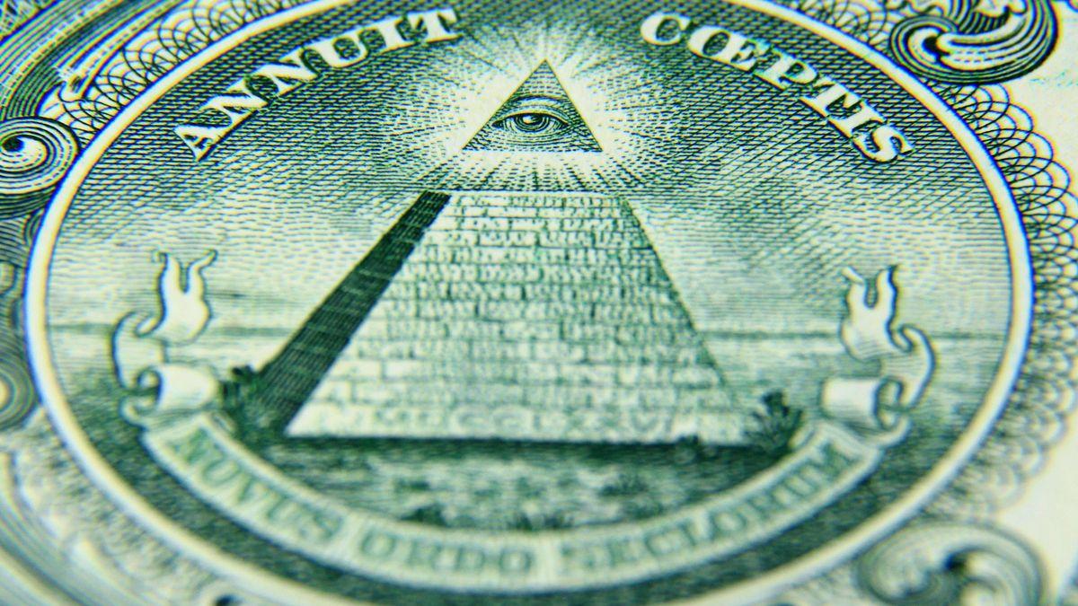 Allsehendes Auge auf Pyramide: Das Siegel und zugleich das bekannteste Zeichen der Illuminaten