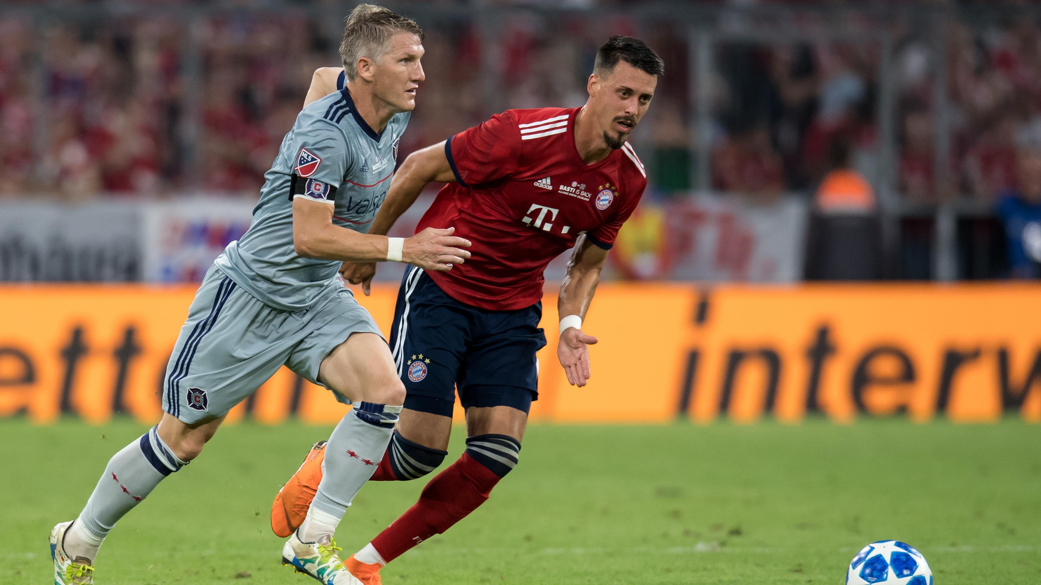 Bastian Schweinsteiger und Sandro Wagner