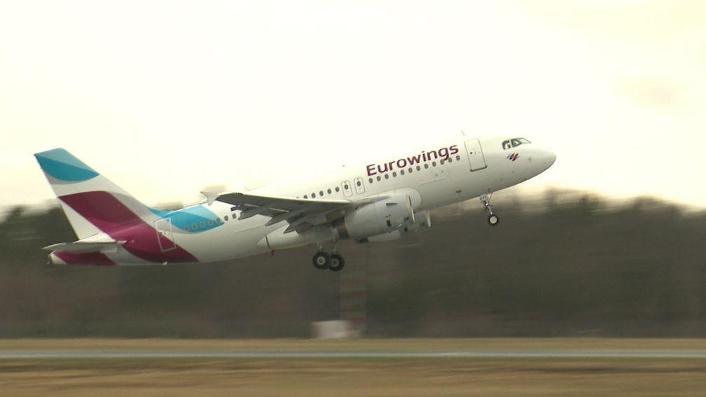 Eurowings-Flieger von Nürnberg nach Mallorca