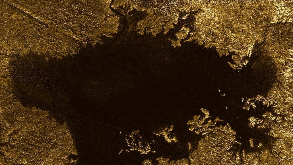 Aufnahme von Cassini-Radar: Ligeia Mare auf dem Mond Titan