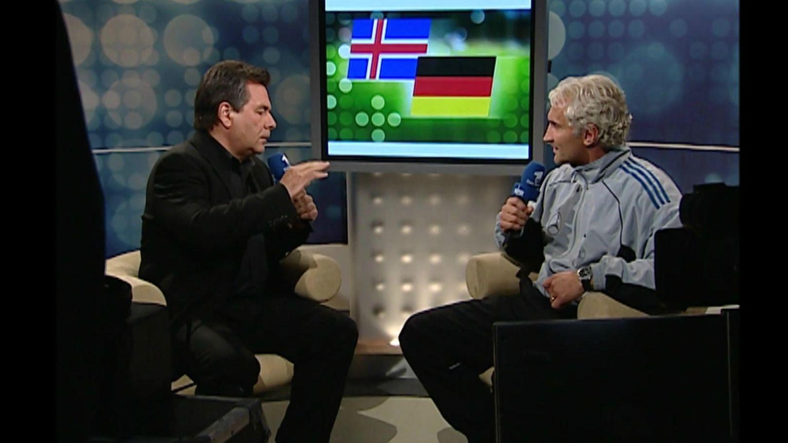 Waldemar Hartmann und Rudi Völler