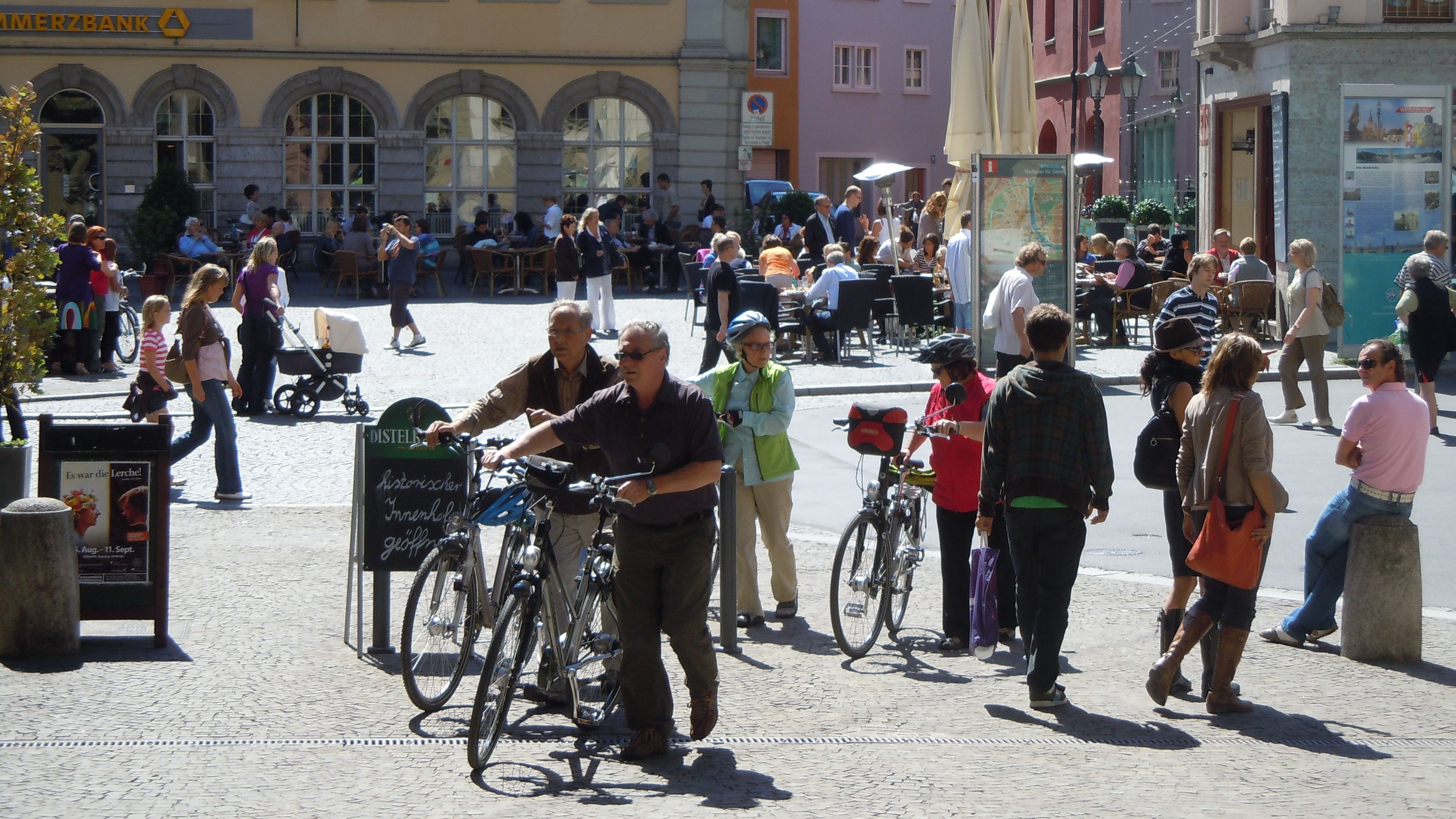 Radfahrer in Würzburg