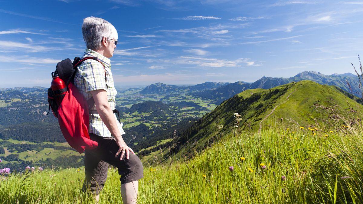Wanderer beim Söllereck