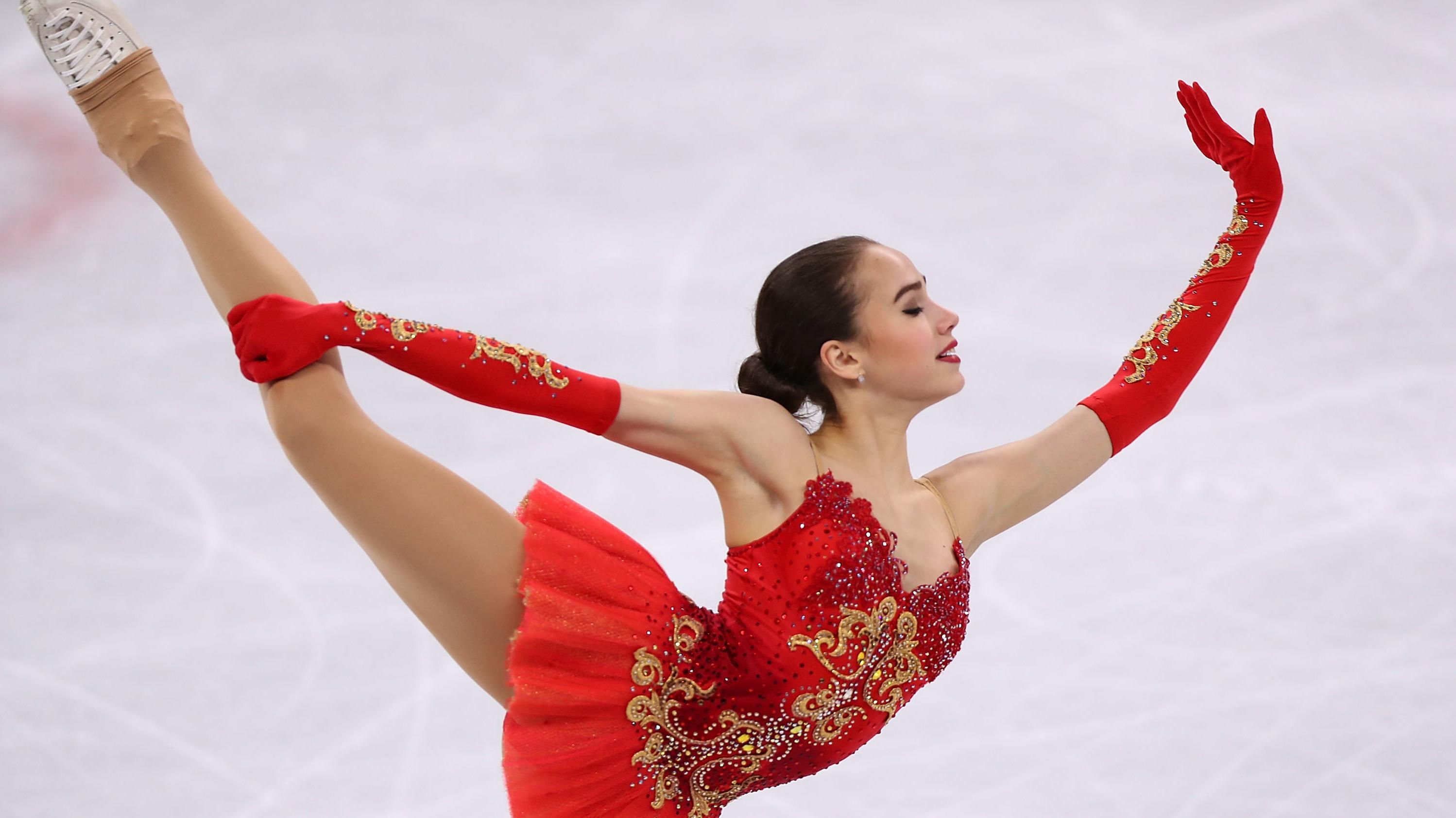 Alina Sagitowa bei ihrer Kür bei den Olympischen Winterspielen 2018 in Pyeongchang