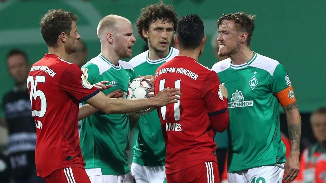 Spielszene Werder Bremen - FC Bayern