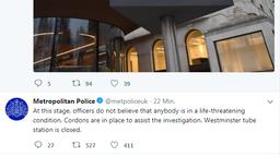 Metropolitan Police Twittermeldung | Bild:BR