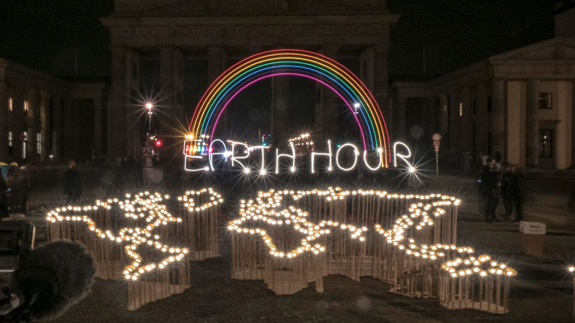 Aktion zur Earth Hour 2019 in Berlin
