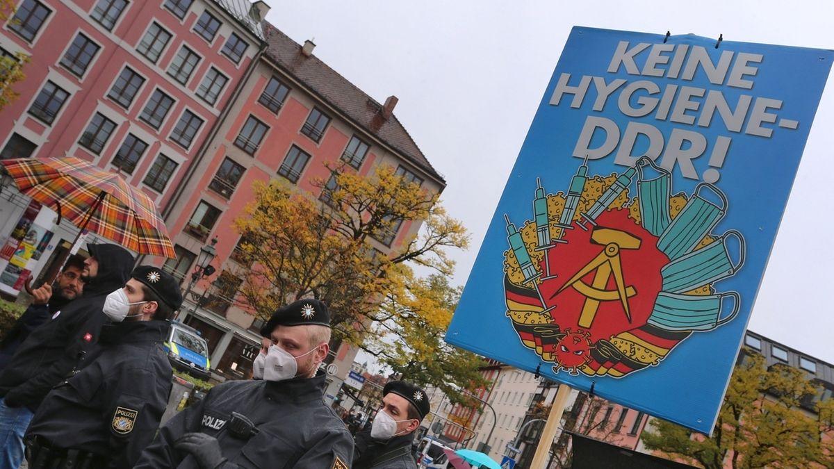 Protest gegen die Corona-Maßnahmen, hier in München.