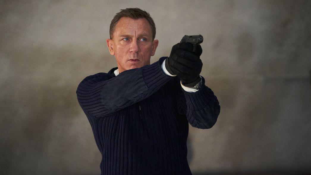 """Daniel Craig als James Bond in der Szene eines Trailers zum James-Bond-Film """"Keine Zeit zu sterben"""" (""""No Time To Die"""", undatierte Aufnahme)."""