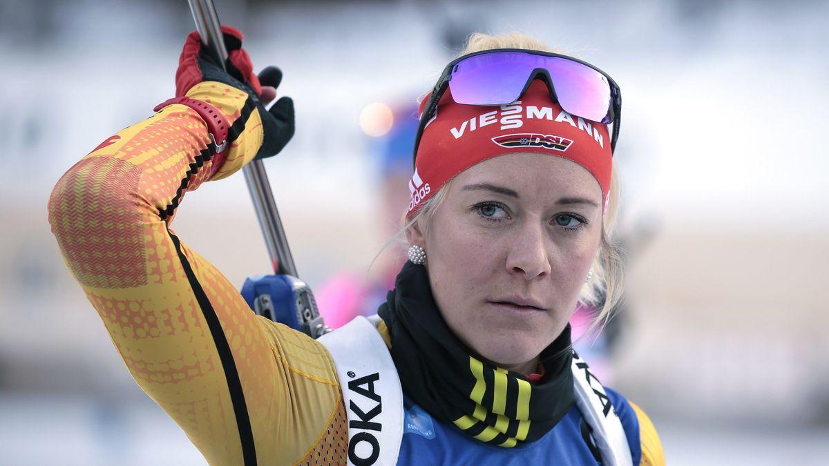 Maren Hammerschmidt im Sprint beste deutsche Skijägerin