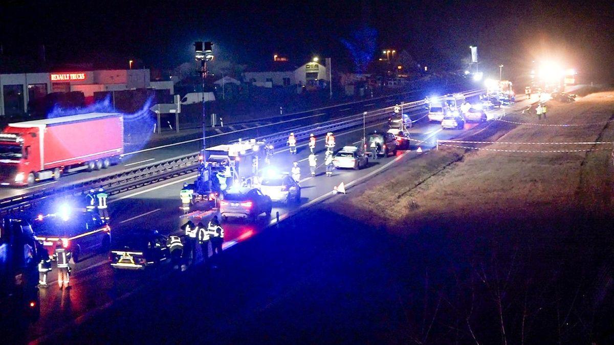 Die Unfallstelle auf der A6 bei Amberg.