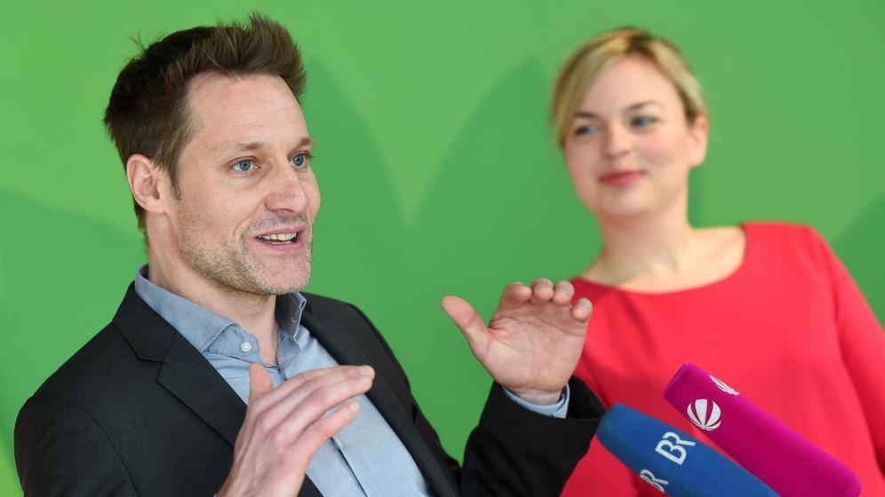 Katharina Schulze und Ludwig Hartmann (Grüne) | Bild:picture-alliance/dpa