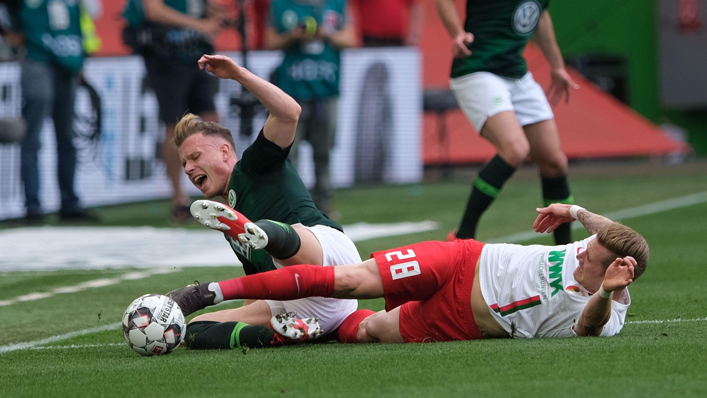 Spielszene Wolfsburg - Augsburg