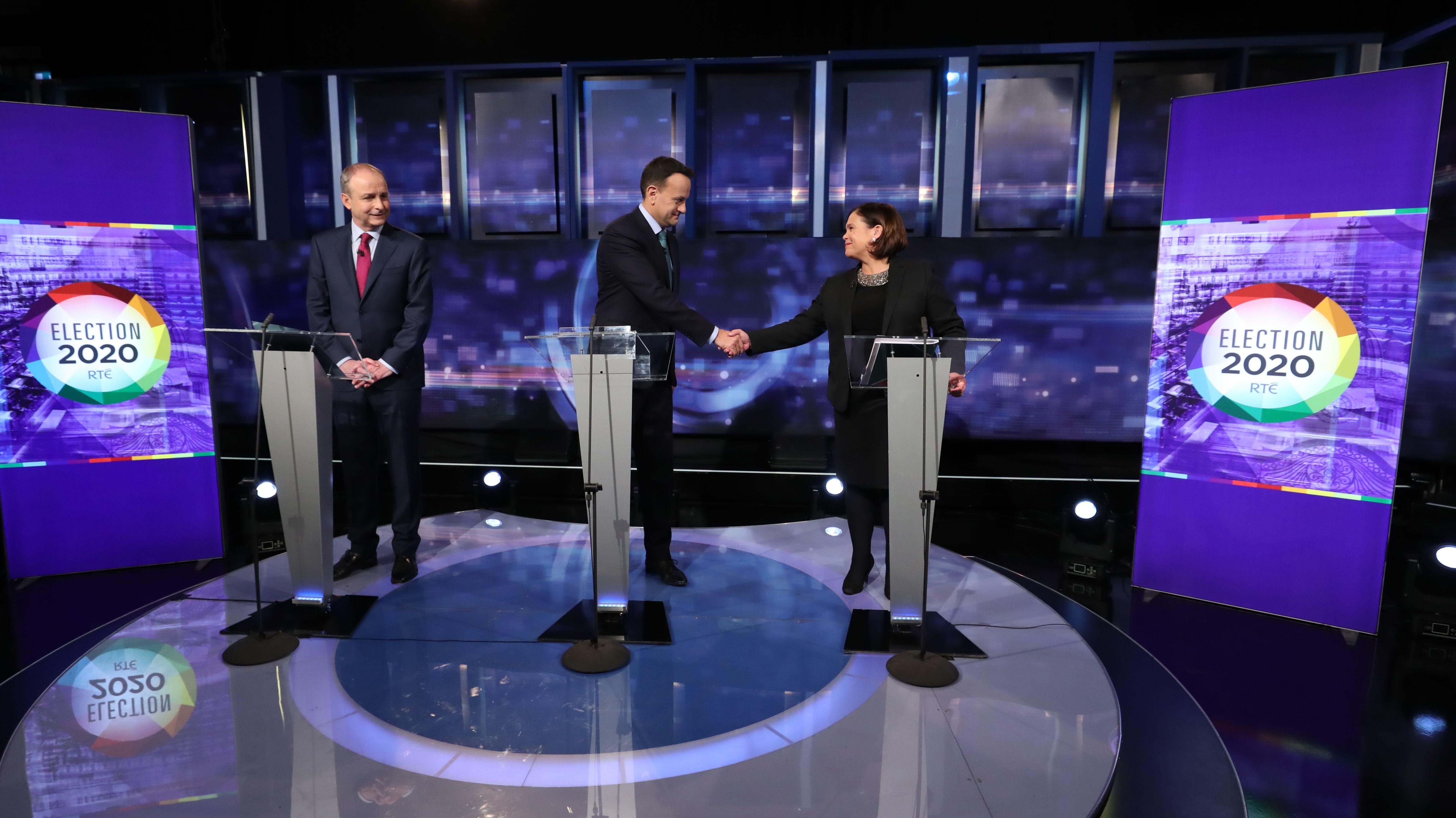 Wahlkampfsendung im irischen TV