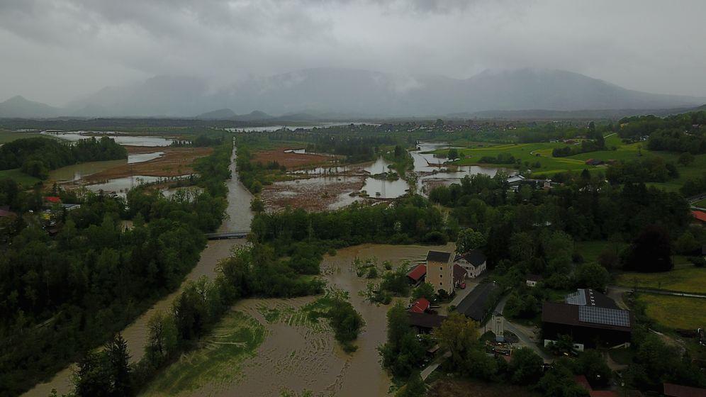 Überschwemmung bei Murnau/Achrain  | Bild:BR/Breitkopf