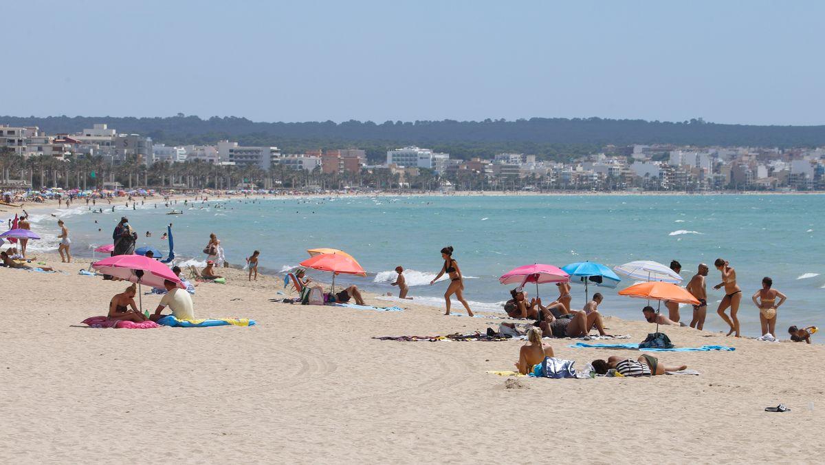 Strand bei Palma de Mallorca.