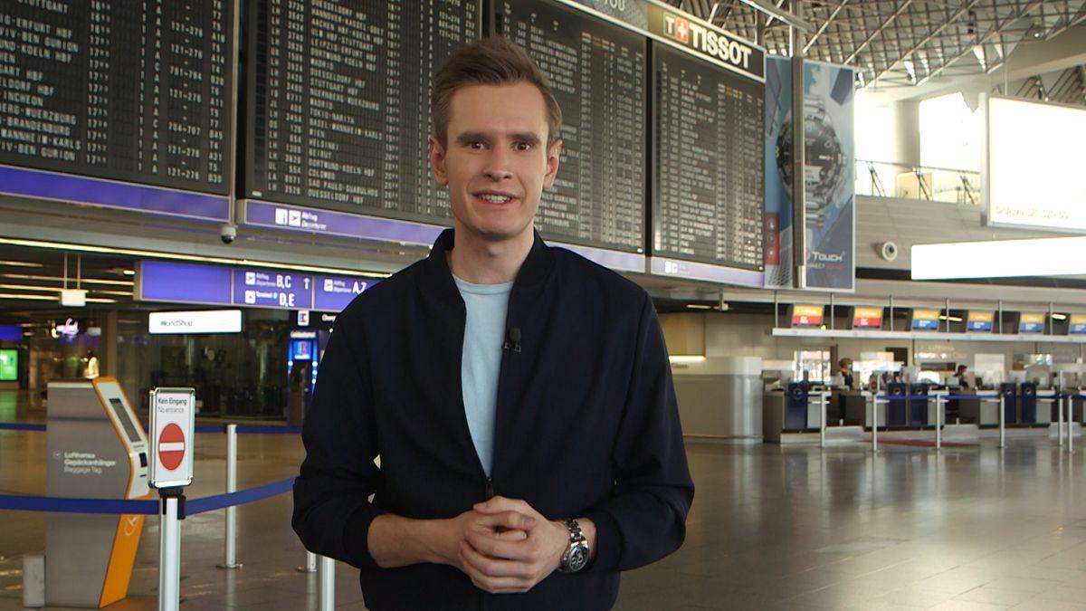 Florian Schwegler am Flughafen Franklfurt