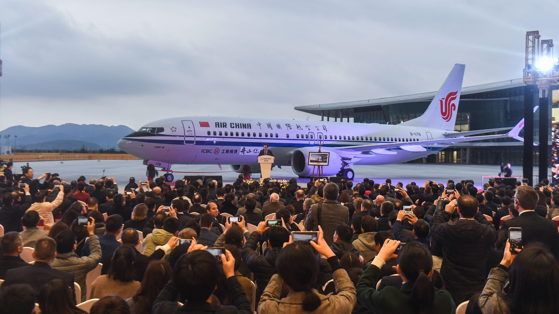 Übergabe einer Boeing 737 MAX 8 an China