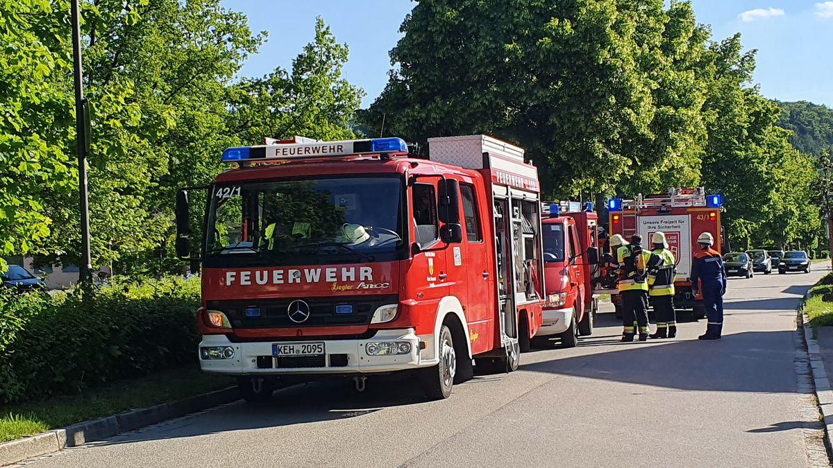 Die Feuerwehr vor der Asklepios-Klinik