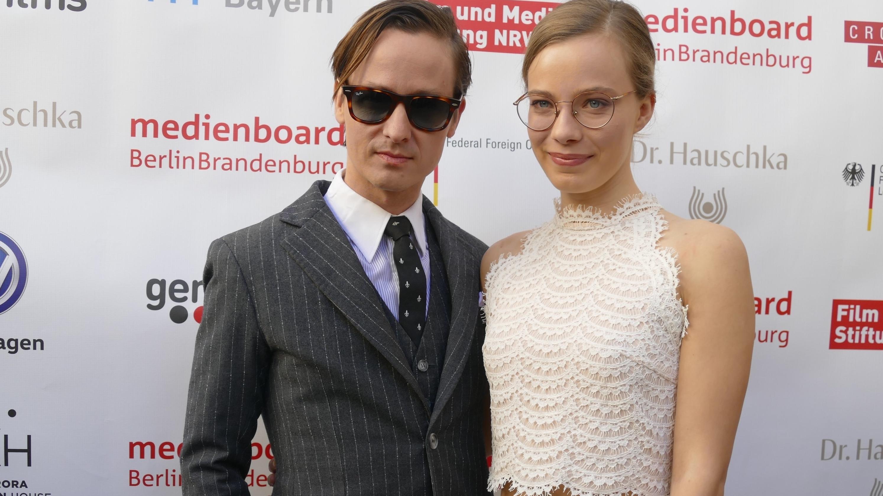 Schauspielerin Saskia Rosendahl und Kollege Tom Schilling beim traditionellen Empfang für die deutschen Oscar-Anwärter in der Villa Aurora.