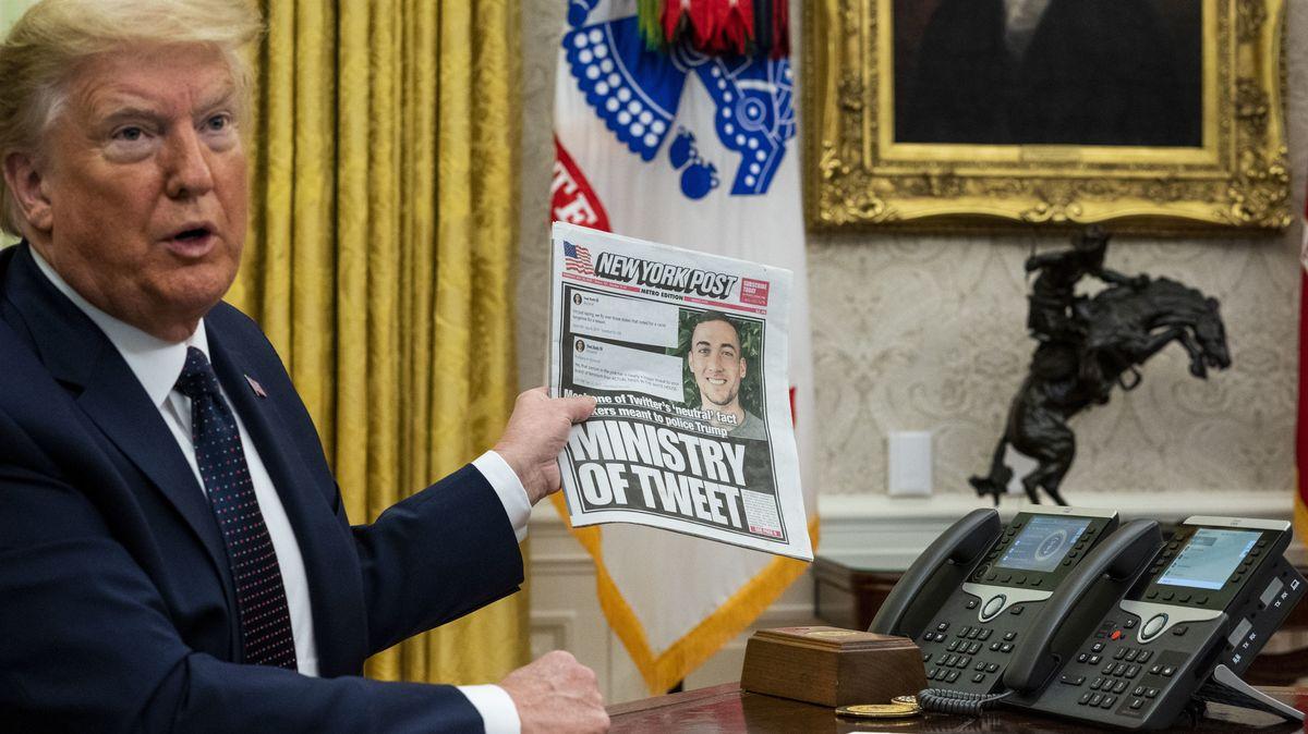 Donald Trump am 28. Mai 2020 im Weißen Haus in Washington.