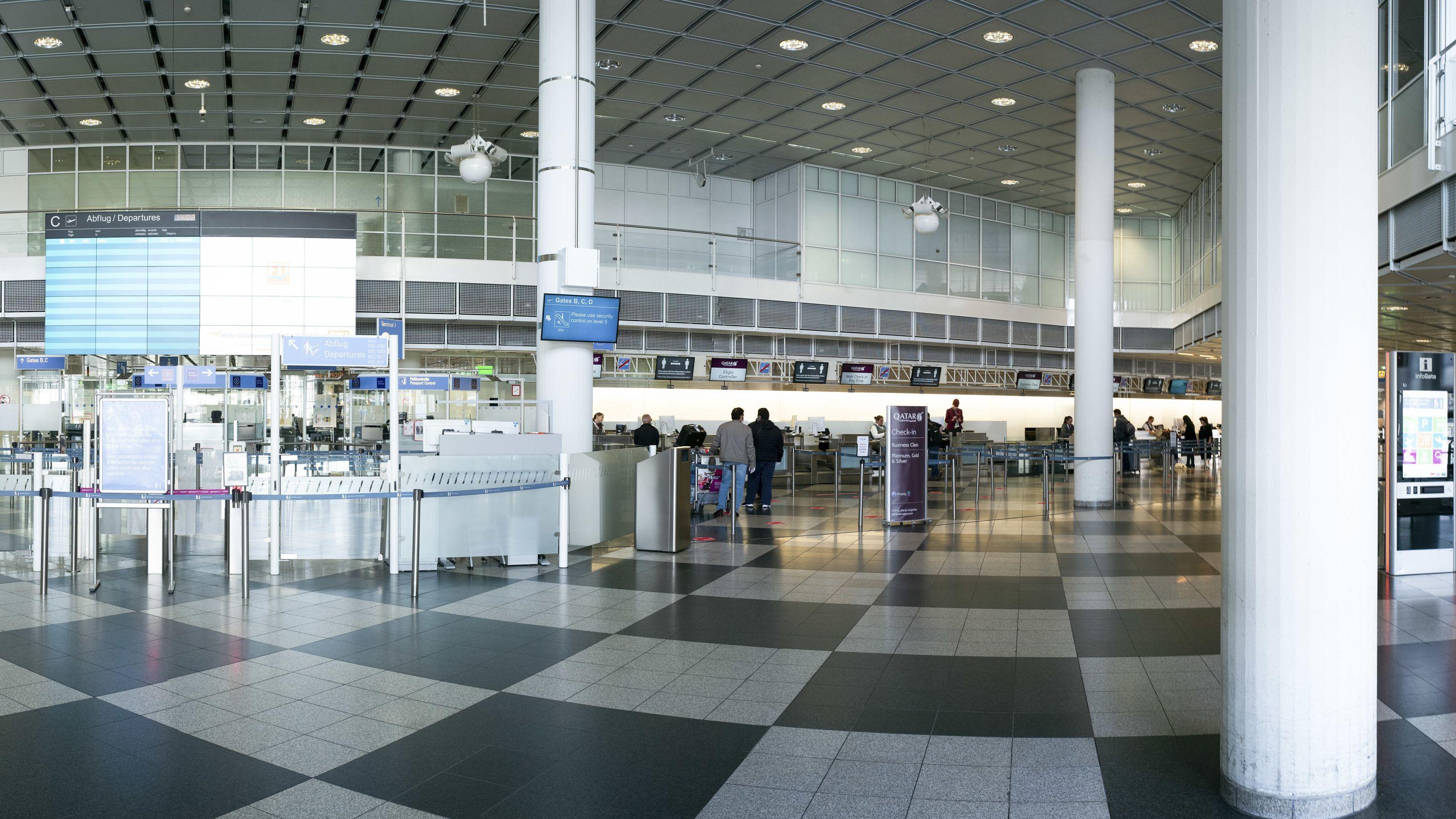 Flughafen München, Abfertigungshalle, Terminal 1