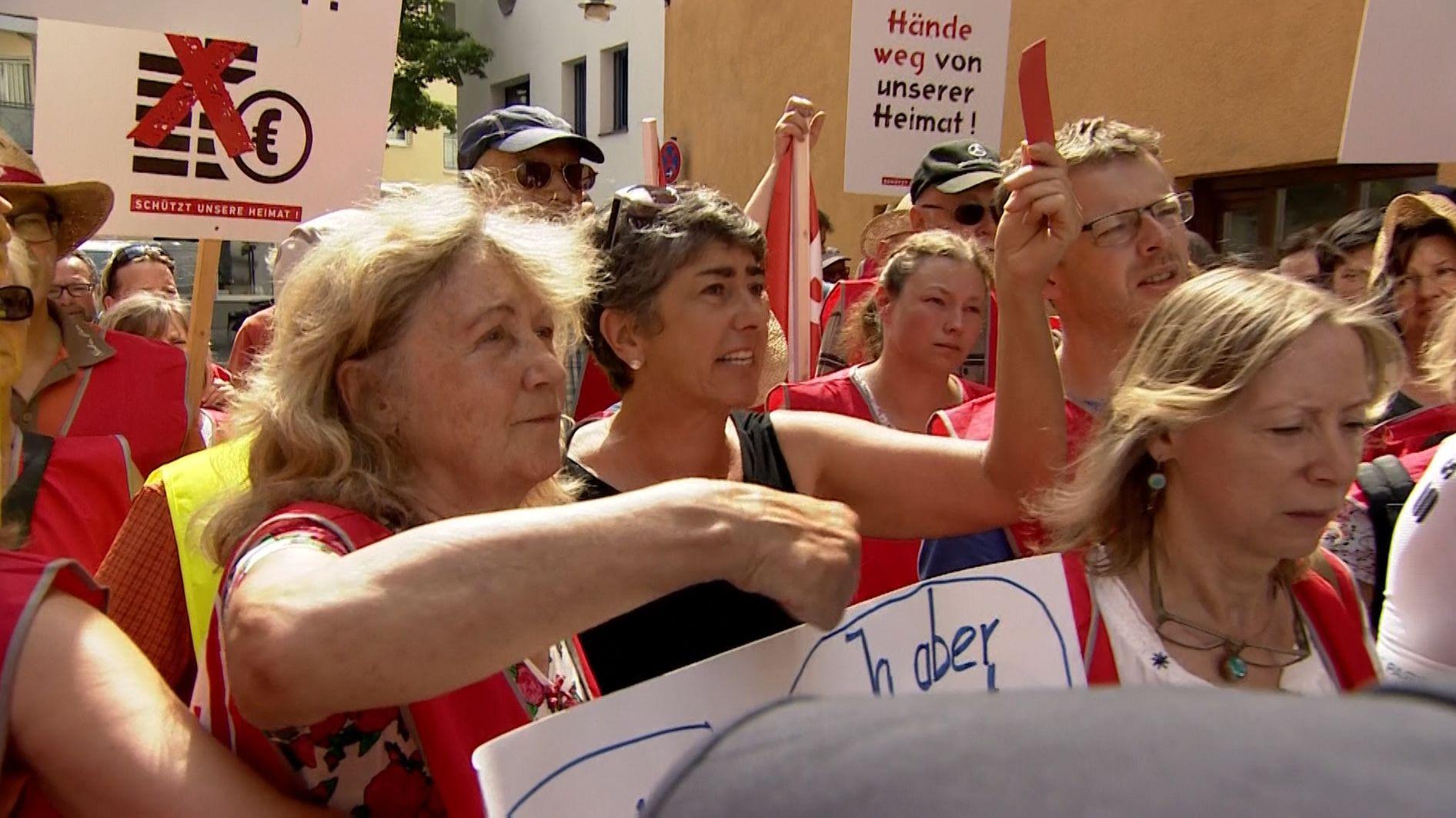 Protest gegen Brenner-Nordzulauf