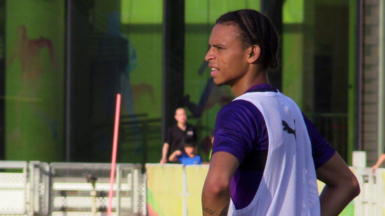 Leroy Sané beim Training von Manchester City