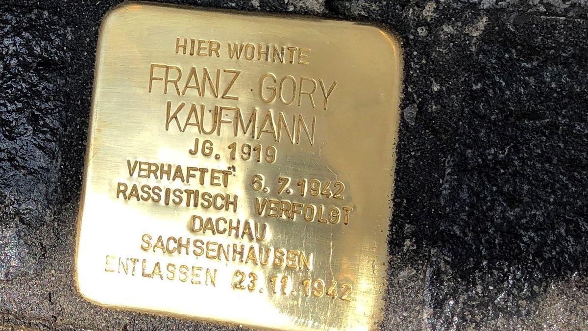 Ein Stolperstein für Franz Gory Kaufmann.