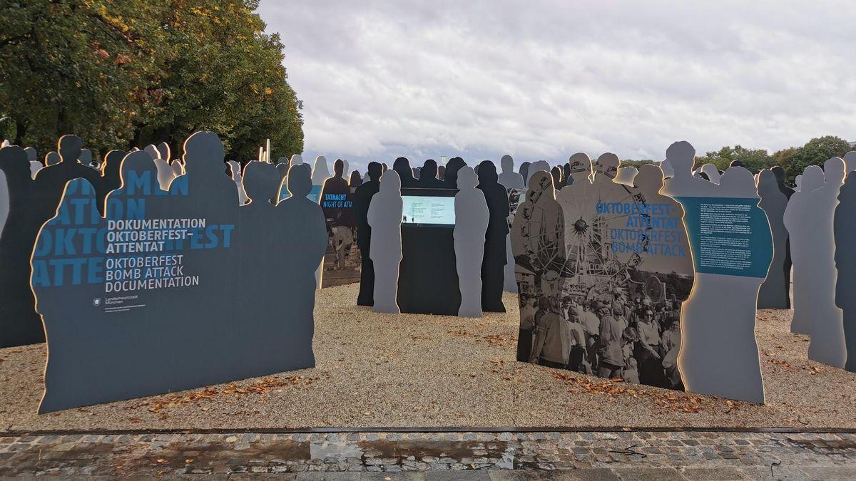 Der neue Erinnerungsort: Lebensgroße, beleuchtete Silhouetten erinnern an die Opfer erinnern und halten digitale Informationen abrufbar.