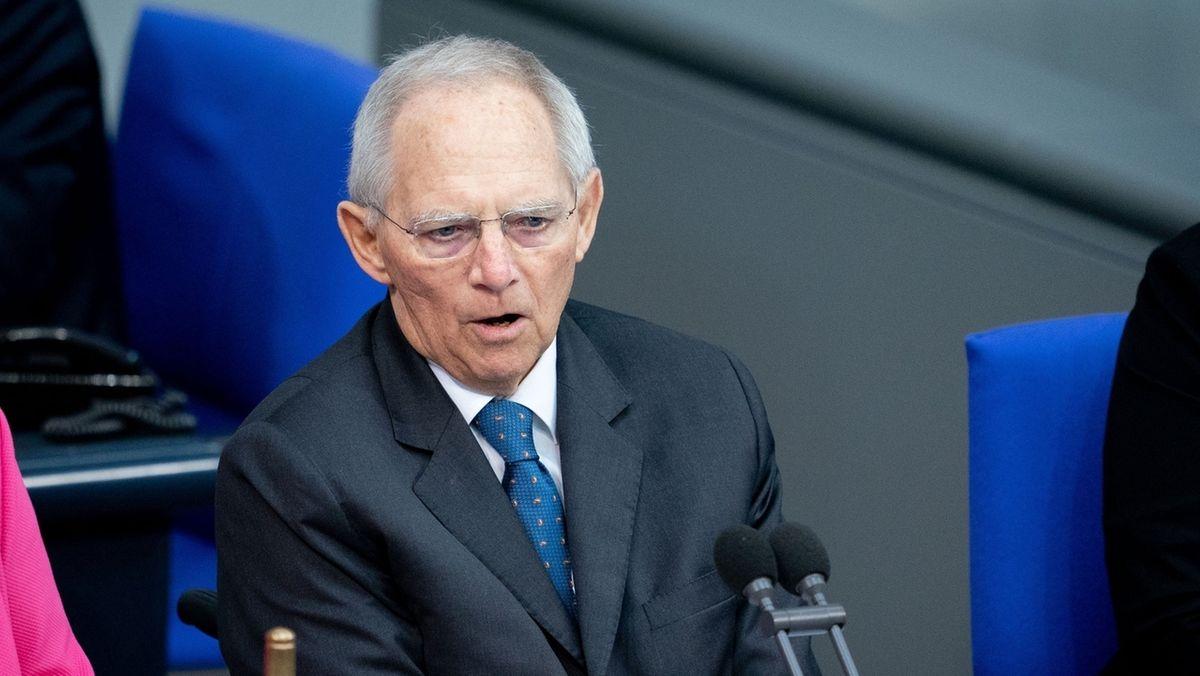 Wolfgang Schäuble im  Deutschen Bundestag