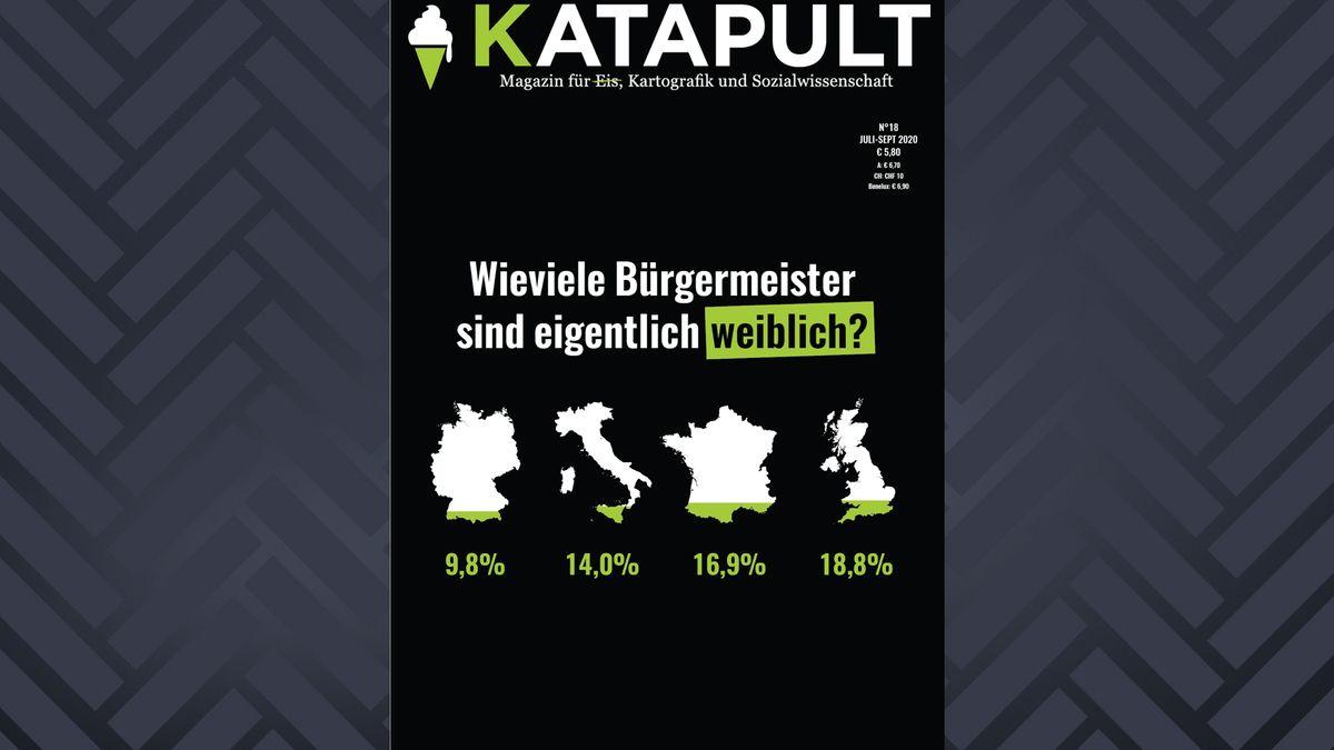 Aktuelles Cover der Vierteljahreszeitschrift KATAPULT