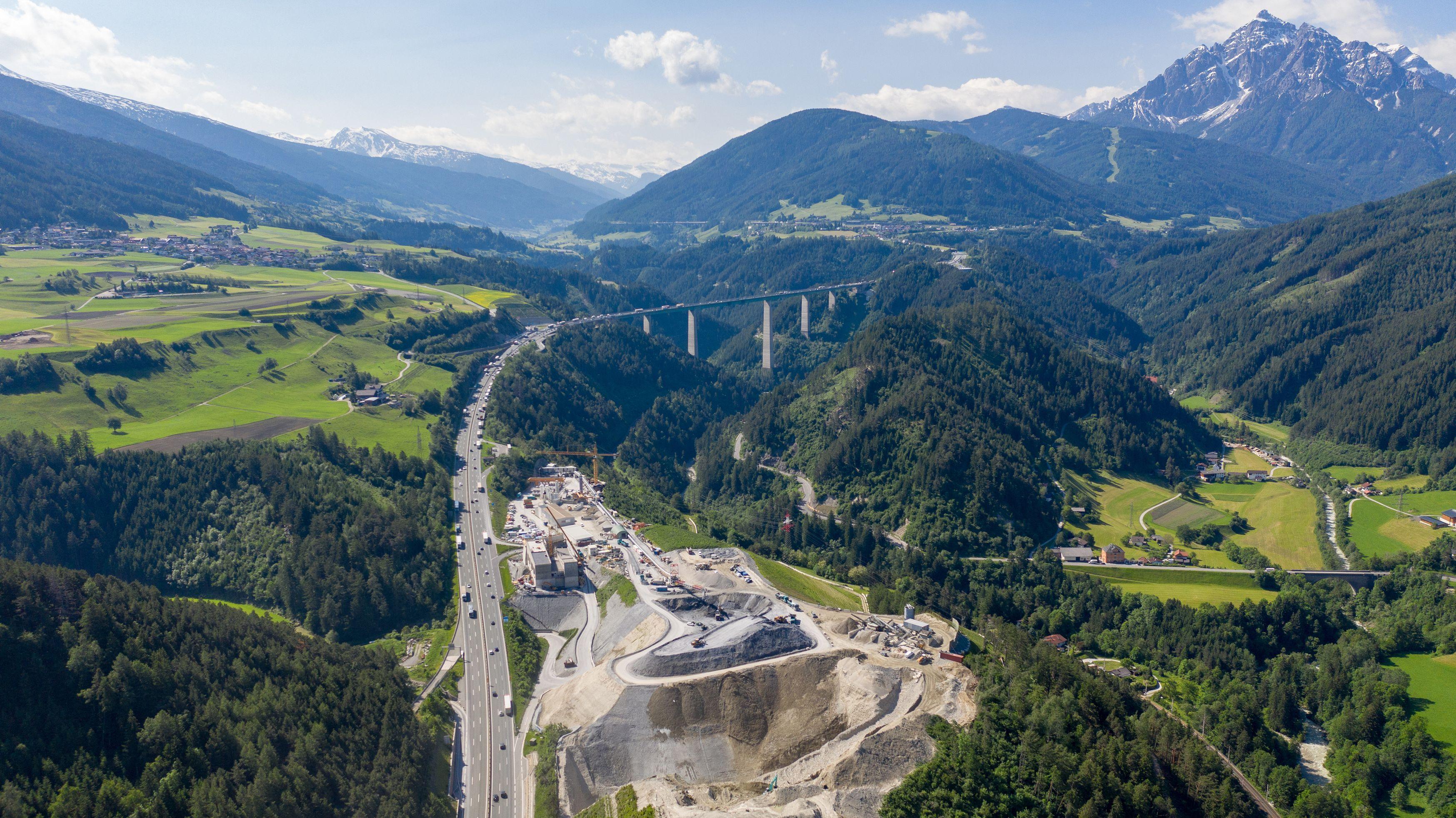 Bauarbeiten für den Brennerbasistunnel