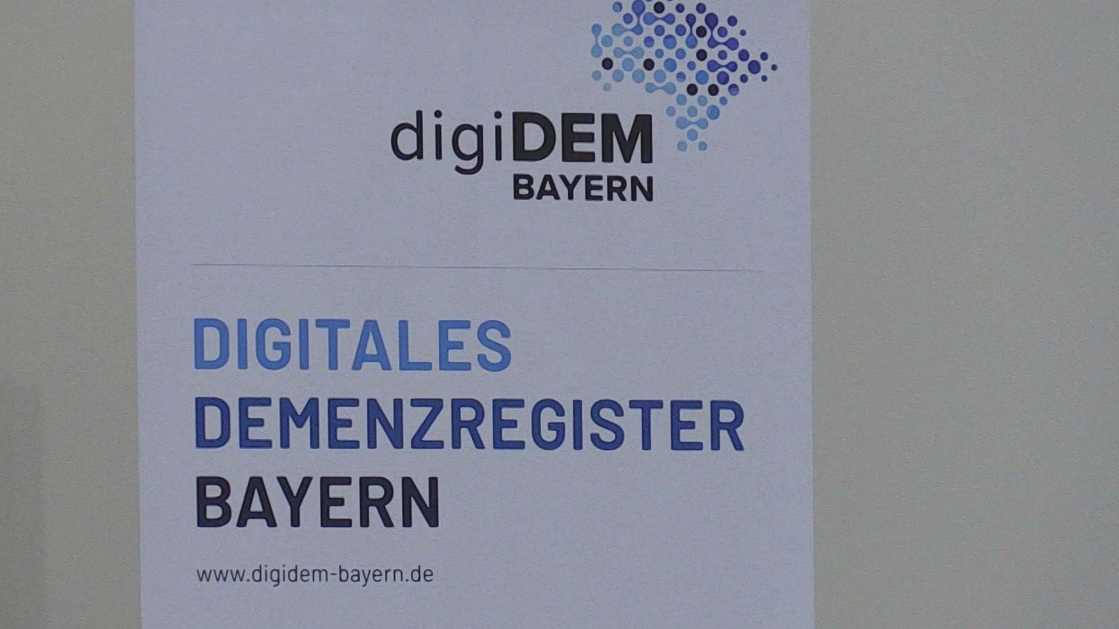 """Plakat des """"Digitalen Demenzregisters Bayern"""""""