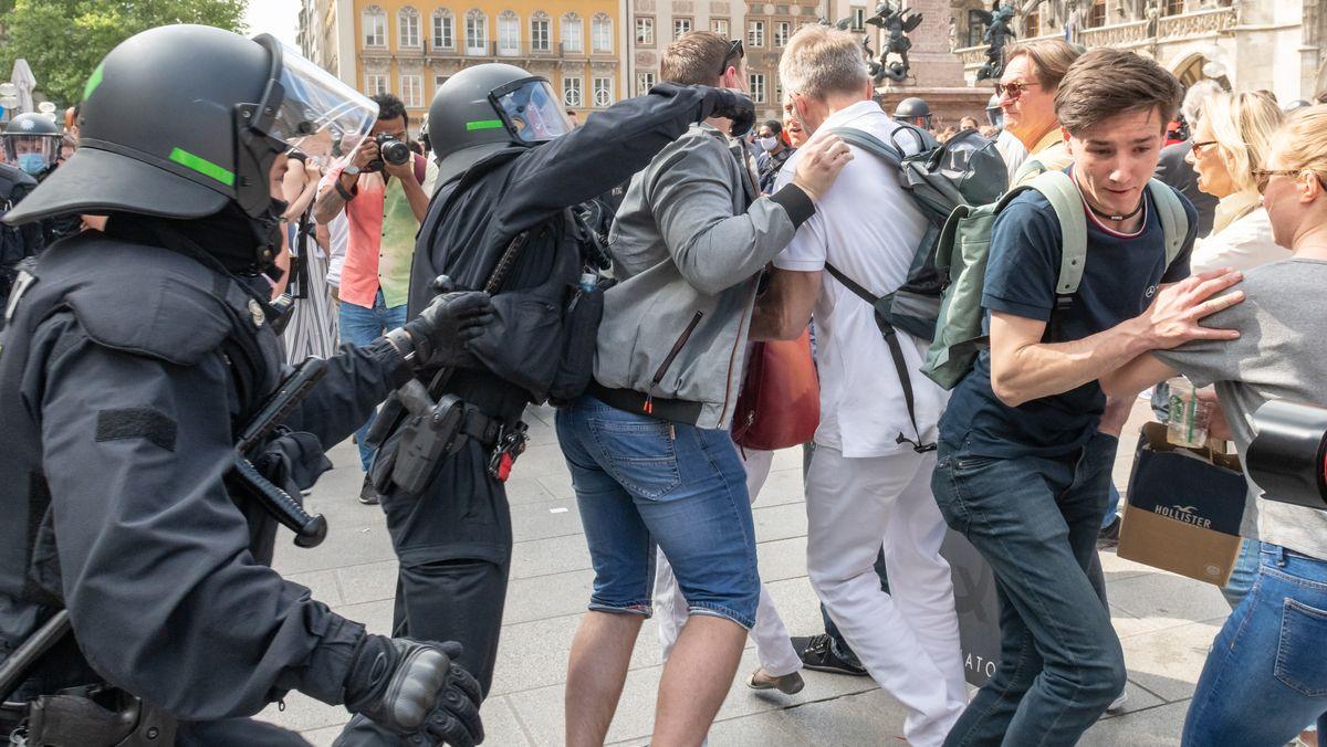 Unruhe bei der Münchner Corona-Demo