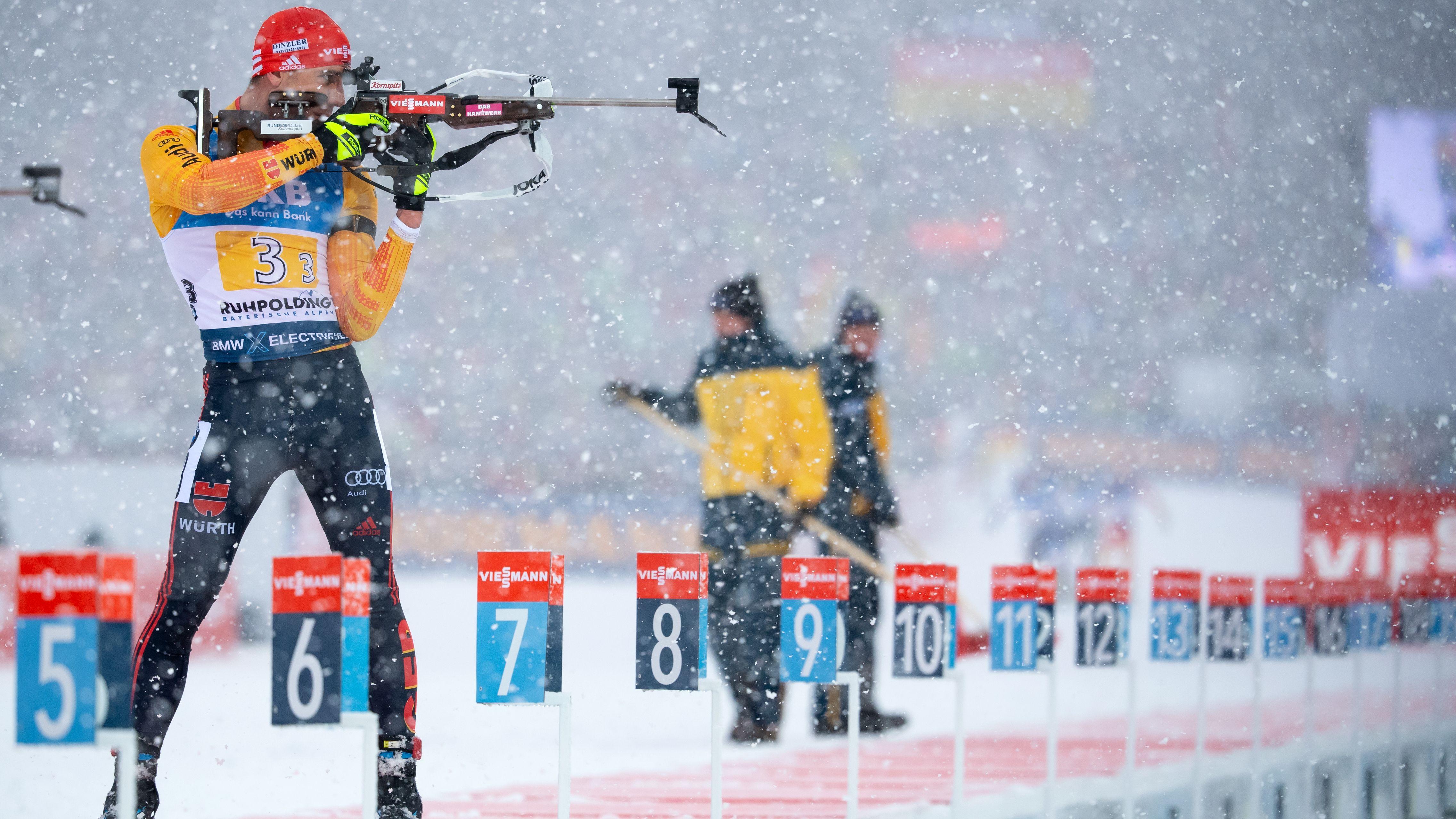 Biathlon-Staffel in Ruhpolding