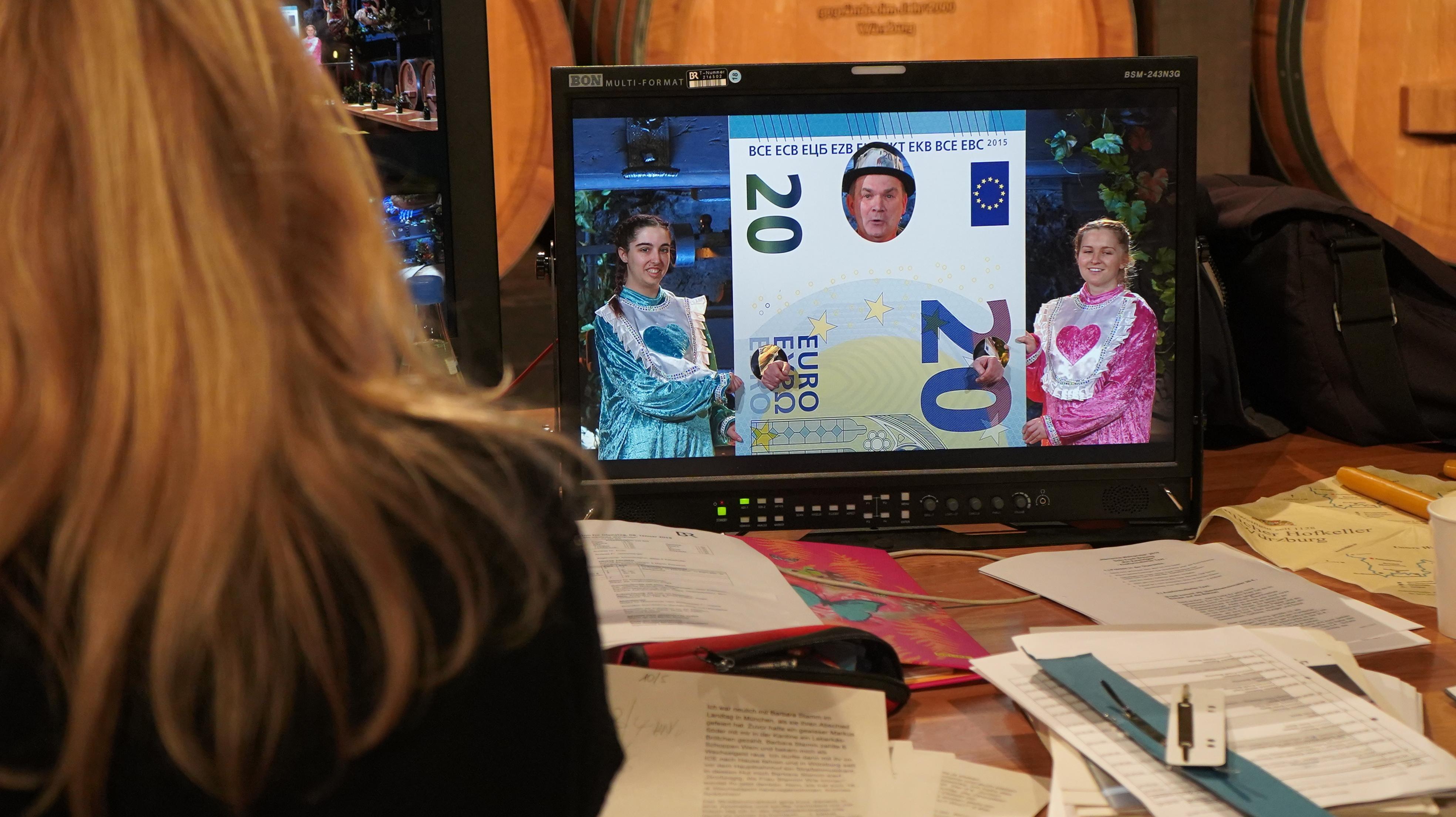 Ein Fernsehbildschirm