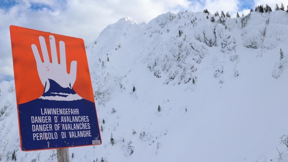 Lawinenwarnung in den Ammergauer Alpen am 21.01.2019.